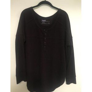 Aritzia TNA Henley Thermal Made to Fit L